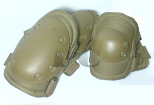G 2 pairs Guard Protective Knees Elbow Pads Tan