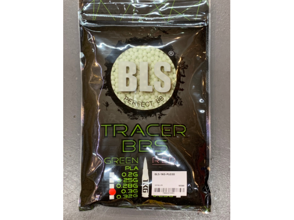 T BLS 0.3g 1KG ( 3330 rds ) Tracer Green BBS