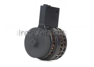 T Iron Airsoft 1000rds Sound control Drum Magazine for AEG