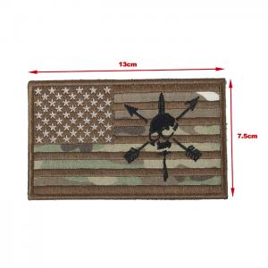 G TMC 13* 7.5 Patch ( USA Skull Flag Multicam )