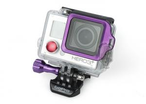 G TMC GoPro Aluminum LANYARD RING Mount 3 Plus / 3+ ( Purple )