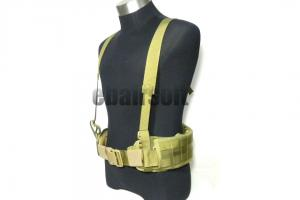 G TMC MOLLE EG style MLCS Gen II Belt with Suspenders ( Tan )