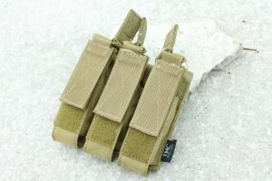 G TMC MOLLE Tri Open Top Mag Pouch for MP7 ( Khaki )