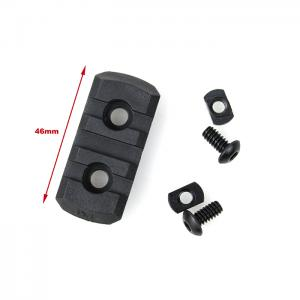 G TMC M-LOCK Nylon 3 Picatinny Rail Sections ( Black )